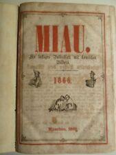 MIAU, Zeitschriften, Miau Lustiges Volksblatt mit komischen Bildern, Miau 1866,