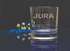 Personalised Engraved Jura Whiskey glass.Birthday, Christmas, Party gift 112