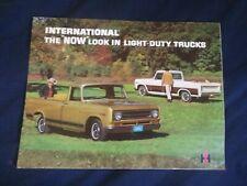 1970 International Light Duty Pickup Trucks Color Brochure Prospekt