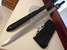 "Shinwa Dragon Lord Damascus Dual Edge Samurai Katana Sword Knife Full Tang 42"" O"