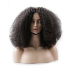 8A 180% Unprocessed Brazillian Afro Kinky Curly Lace Front Human Hair Wig 14inch