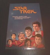 Star Trek / Star Trek The Next Generation Comic Promotional Insert - Exc. Cond.