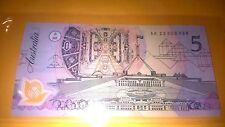 1992 $5 DOLLARS  LOW PREFIX UNC NOTE