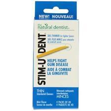 24 Pack Stim-U-Dent Plaque Removers Thin Mint Flavor Fights Gum Disease 160ct Ea