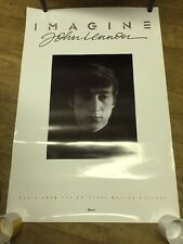 John Lennon Imagine Soundtrack Poster Original 1988 Promo 36x24 The Beatles