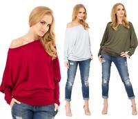 Longshirt Bluse Shirt mit Fledermausärmel Top 11 Farben, 8553