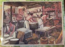 Ancienne Carte Expo Affiche Scolaire  42 x 30 Boulanger Viennoiserie 1954
