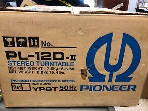 Pioneer PL-12D II MKII MK2 VINTAGE RECORD PLAYER / TURNTABLE, BOX, CART/STYLUS