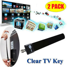 2*Clear TV Key HDTV Free TV Stick Satellite Indoor Digital Antenna Ditch Cable W