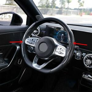 Universal 38cm Car Interior Steering Wheel Booster Non-Slip Cover Carbon Fiber