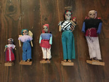 Vintage Lot of 5  Ethnic Dolls Guatemala Mexican