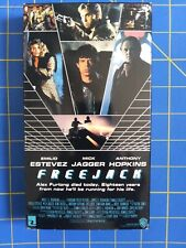 Freejack VHS Emilio Estevez Mick Jagger Anthony Hopkins ex rental blockbuster
