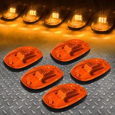FOR 02-18 DODGE RAM TRUCK 5PCS AMBER LENS LED CAB ROOF TOP MARKER RUNNING LIGHT