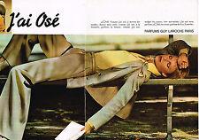 """PUBLICITE ADVERTISING 044  1977  GUY LAROCHE  parfum  """" j'ai OSE""""  ( 2 pages)"""
