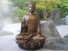 """Feng Shui Asian Sakyamuni  Buddha  Bronze Statue/ H 3""""/ 1919"""