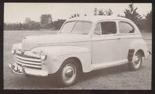 Dealer Promo Postcard  1946 FORD DELUXE 2 DOOR SEDAN