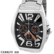 CERRUTI MENS GRANDE CLASSICO SWISS CHRONOGRAPH WATCH NEW BLACK CT65481X403011