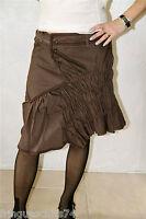 jupe marron coton lin imprimé MARITHE FRANCOIS GIRBAUD taille S NEUVE ETIQUETTE