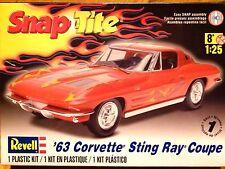Revell monogram 1:25'63 corvette sting ray coupe modèle de voiture kit