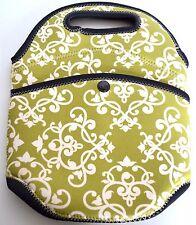 Munchkin Snappy Bottle Tote Neoprene Green Baby Drink Carrier Cooler Holder Bag