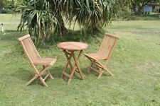 Teak Sitzgruppe - Gartenset - Balkonset - Gartengarnitur - 3tlg.