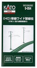 Kato 5-054 Single Wide Track Catenary Poles 12 pcs HO scale