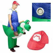 Inflatable Mario Riding Yoshi Costume Adult Super Mario Fancy Dress Cosplay Kits