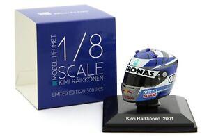 Spark 1/8 Scale Kimi Raikkonen 2001 Helmet - Late Season - Instock Now