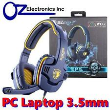 SADES GPOWER SA 708 Stereo PC Gaming Headset Headphones Noise Cancel Mic NEW yel
