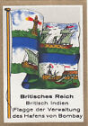 DRAPEAU British Empire britannique India Port Bombay administration FLAG CARD 30