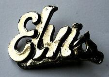 ELVIS PRESLEY Original VTG 70/80`s Cast Metal Pin Badge (not patch lp shirt)R084