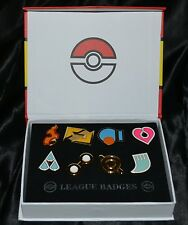 Set of 8 Hoenn League Pokemon Gym Leader Badges Pins Ruby Sapphire & Emerald