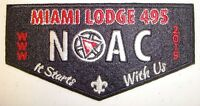 MIAMI VALLEY 495 PATCH 2015 NOAC OA 100TH ANN CENTENNIAL FLAP FELT SMY DELEGATE
