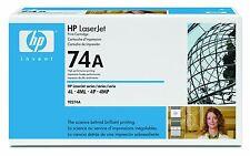 Genuine HP (74A) Black MicroFine LaserJet Toner Cartridge 92274A 3350 Page Yield