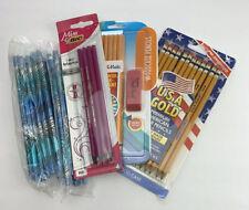 Lot Pencils, 24 Blue, 4 Bic Pink, 12 Papermate w/eraser Hb 2, 12 Usa Gold Hb2