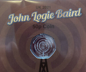 JOHN LOGIE BAIRD 50p 2021 COIN BRILLIANT UNCIRCULATED LIMITED EDITION PACK 0729