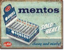 Mentos Tin Sign vintage retro candy drug store soda bar wall art home decor 2087