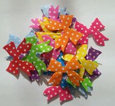 20 x Bow shape polka dot appliques/patches/embelishments 3cm x 3cm