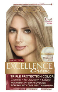 LOreal Excellence Creme Hair Color 8 1/2A Champagne Blonde