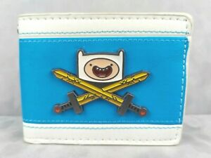 ADVENTURE TIME: Enamel Finn Badge Blue and White Faux Leather Bifold Wallet!