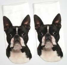 LADIES PHOTO FRENCH BULLDOG DOG SHOE LINERS SOCKS UK SIZE 4-8 BNWT