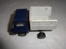 Vintage Marx Metal Dump Truck Toy Blue / White
