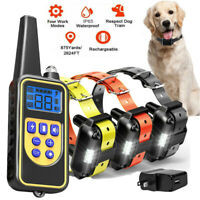 2600FT Remote Dog Shock Training Collar Rechargeable LCD Pet Trainer Waterproof