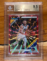 Pop 3 2019 Stephen Curry DONRUSS PRESS PROOF RED LASER 64 /99 BGS 9.5,10 sub PSA