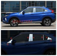 Steel Chrome Window Pillar Posts trim 14X  For Mitsubishi Eclipse Cross 18-2019