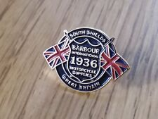 BARBOUR INTERNATIONAL SOUTH SHIELDS 1936 MOTORCYCLE SUPPLIES BADGE