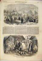 Original Old Antique Print Mollahs Council Constantinople Sketch Ulema 1854 19th