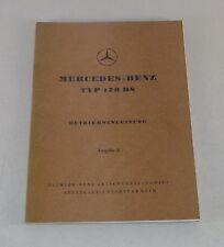 Betriebsanleitung Mercedes Benz W191 170 DS Diesel von 03/1952