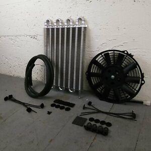 1936-53 Chevy Transmission Oil Cooler Electric Radiator Fan Kit rochester 216 V8