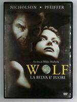 DVD Wolf La belva è fuori Nicholson Pfeiffer Film Cinema Video